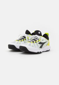 Diadora - SPEED BLUSHIELD FLY 3 + CLAY - Clay court tennis shoes - white/black/lime green - 1