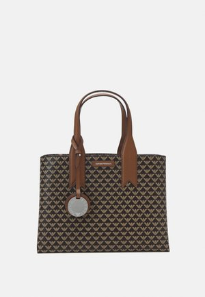 FRIDATOTE BAG - Bolso de mano - brown/ecru/tobacco
