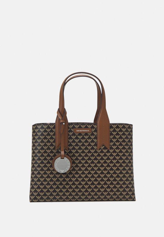 FRIDATOTE BAG - Håndtasker - brown/ecru/tobacco