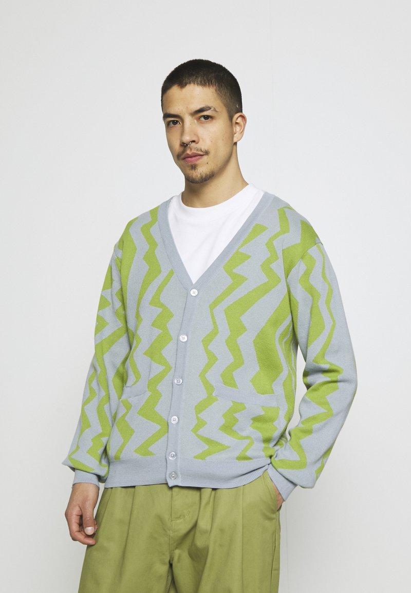 Obey Clothing - STATIC CARDIGAN - Neuletakki - good grey/multi