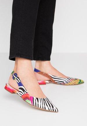 Ankle strap ballet pumps - cuba multicolor
