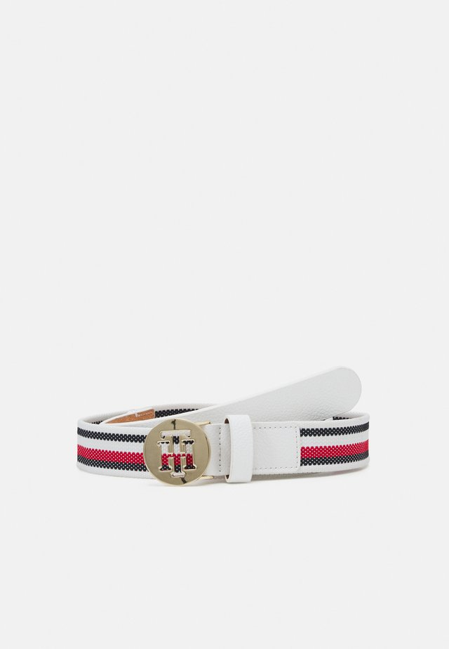 ROUND ELASTIC BELT - Belt - white