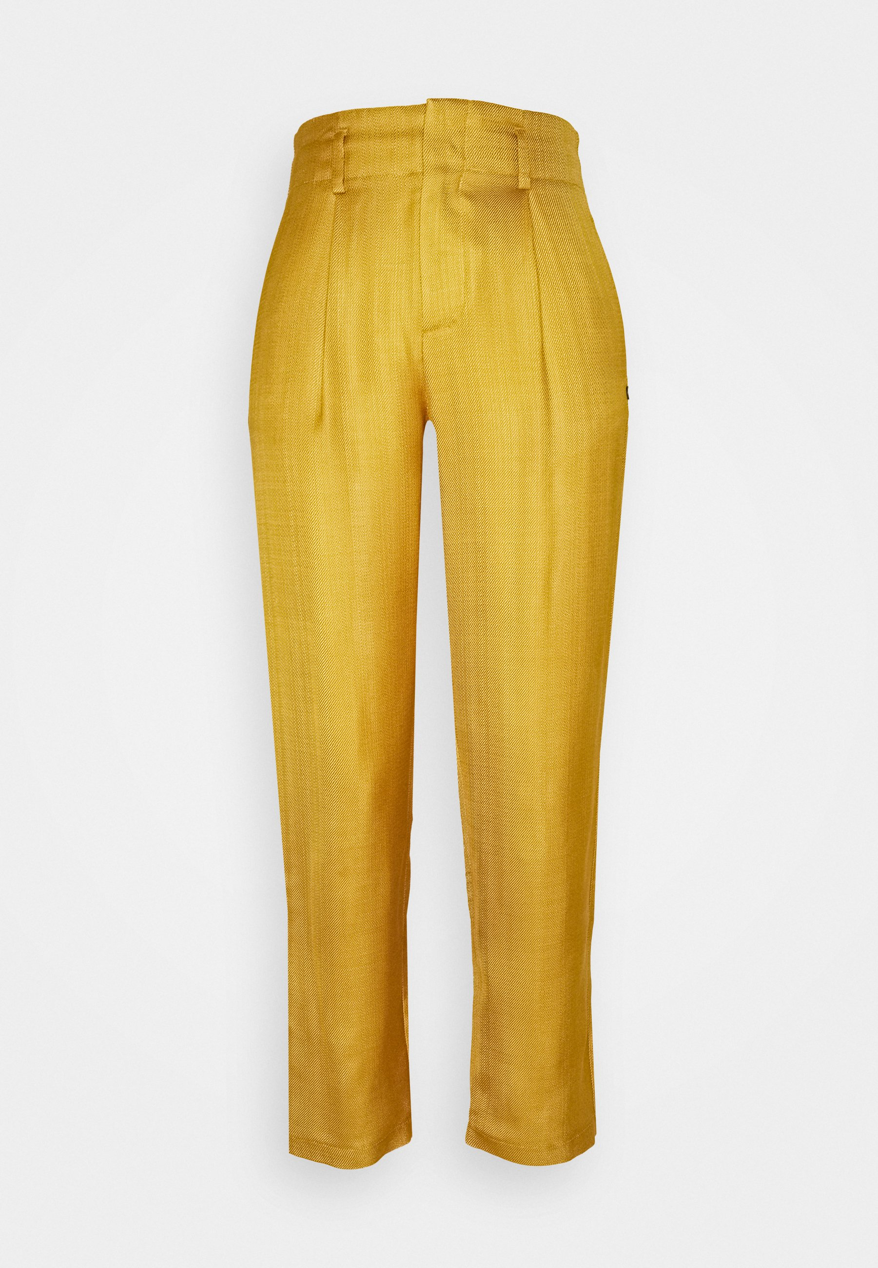 Women TAILORED PANTS IN SHINY BLEND - Trousers