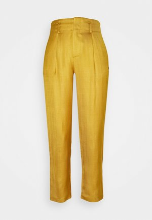TAILORED PANTS IN SHINY BLEND - Kalhoty - marigold