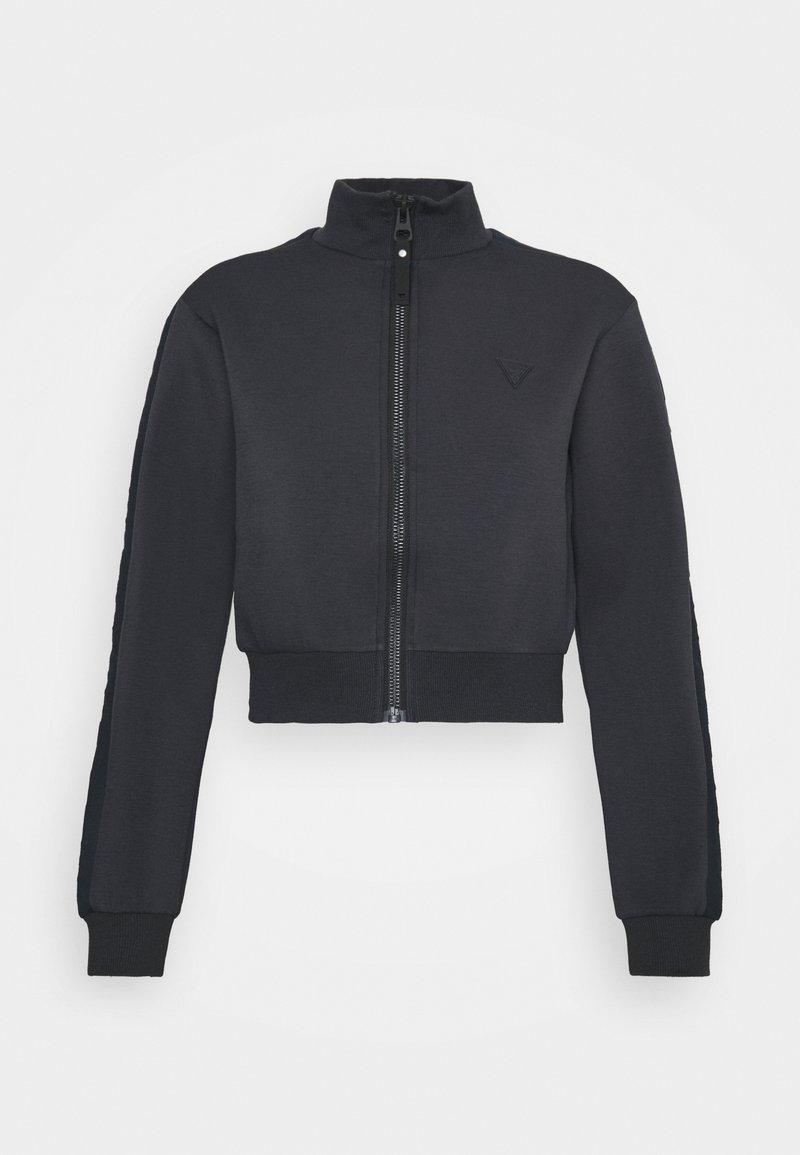 Guess - SCUBA ALLIE FULL ZIP - Zip-up sweatshirt - blue graphite grey