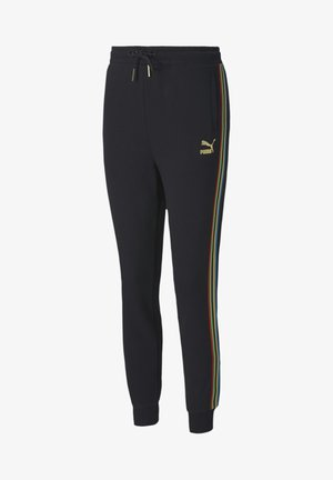 Tracksuit bottoms - black-gold