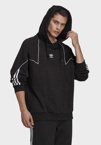 adidas Originals - BIG TREFOIL ABSTRACT HOODIE - Hoodie - black - 3