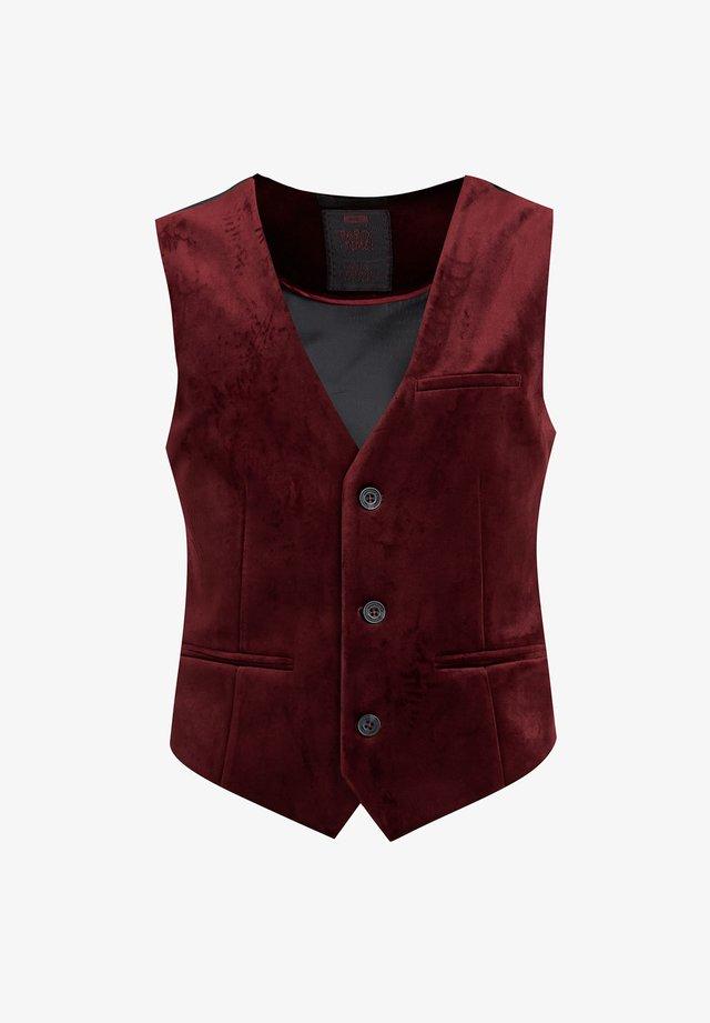 JONGENS VELVET - Weste - burgundy red