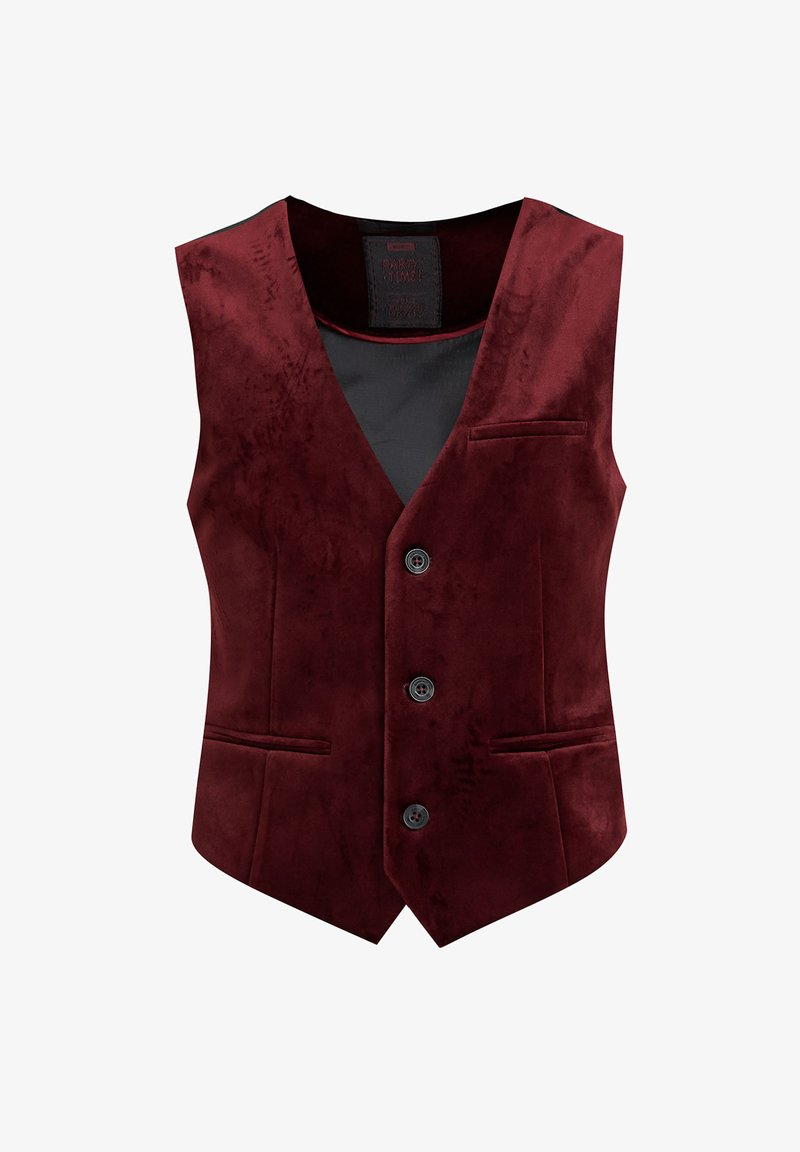 WE Fashion - JONGENS VELVET - Bodywarmer - burgundy red