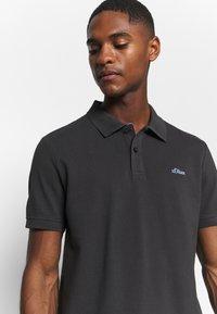 s.Oliver - KURZARM - Polo shirt - black - 3