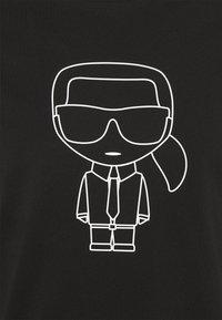 KARL LAGERFELD - CREWNECK - Print T-shirt - black - 7