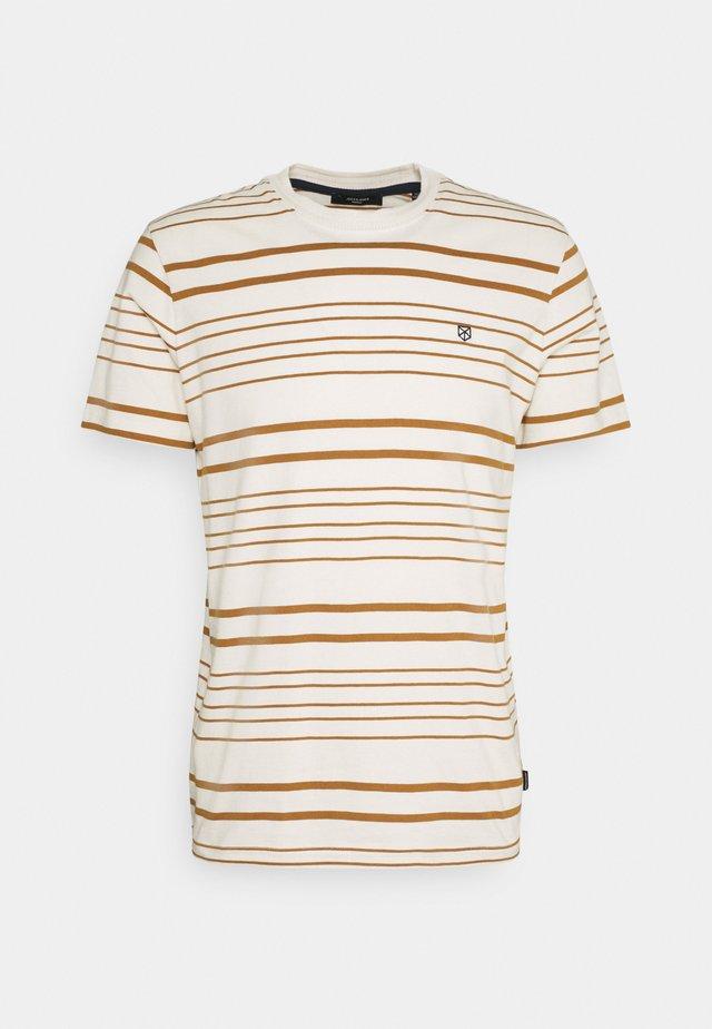 JPRJURI - T-shirt med print - egret