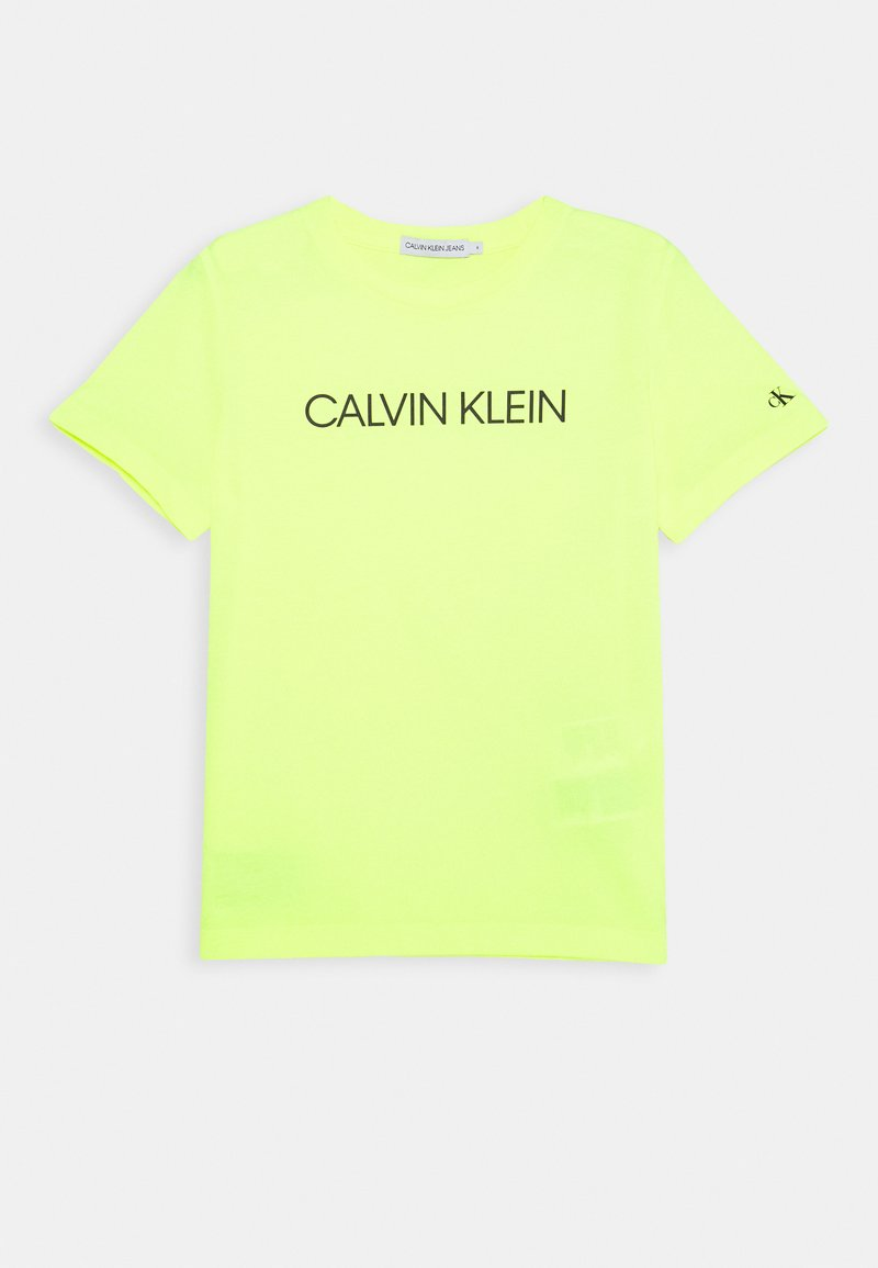 Calvin Klein Jeans - INSTITUTIONAL - Printtipaita - yellow