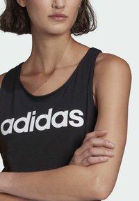 adidas Performance - ESSENTIALS LOOSE LOGO TANK TOP - Top - black - 2