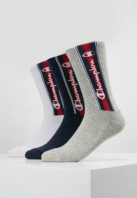 Champion - EURO TAPE CREW SOCKS 3 PACK - Sports socks - grey/white/navy - 0