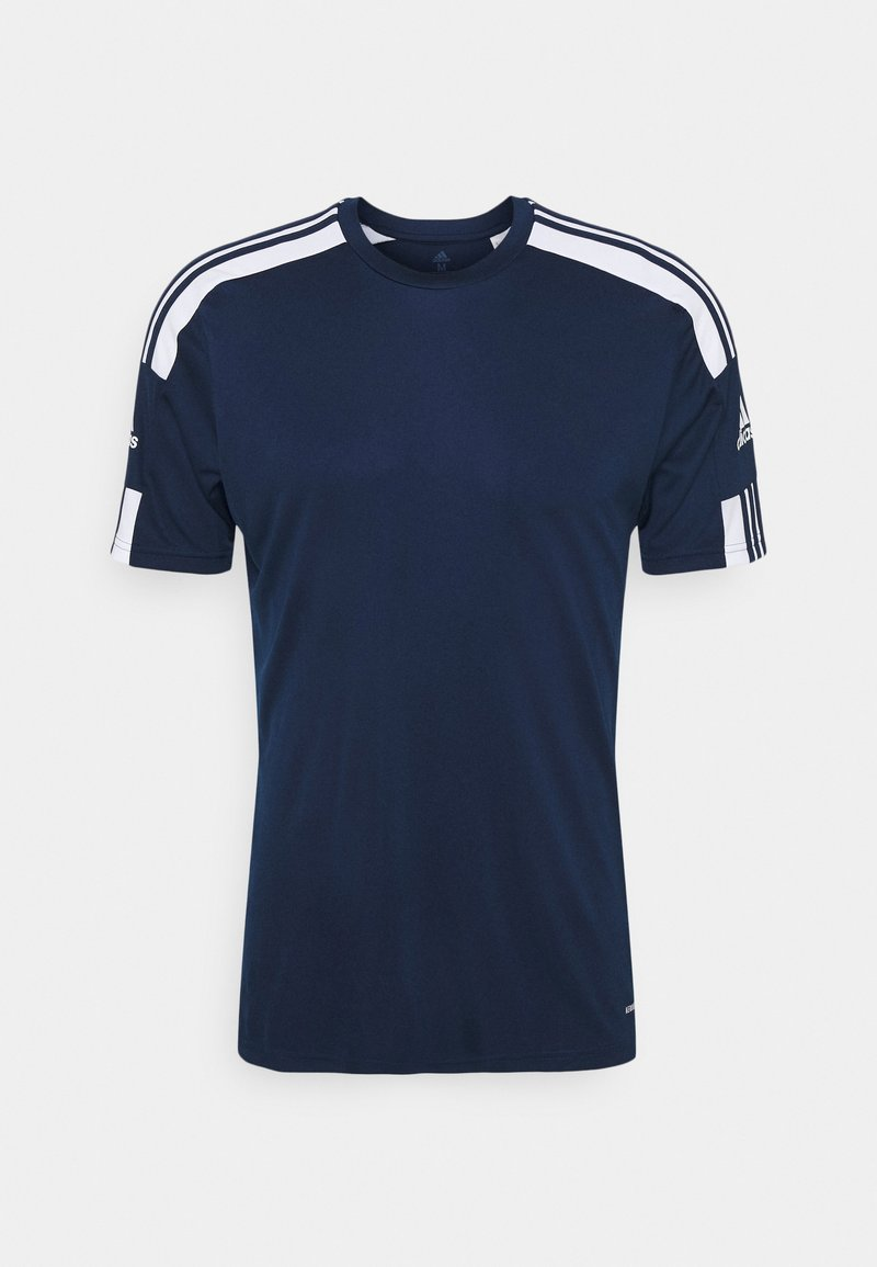 adidas Performance - SQUAD 21 - T-shirt med print - navy blu/white