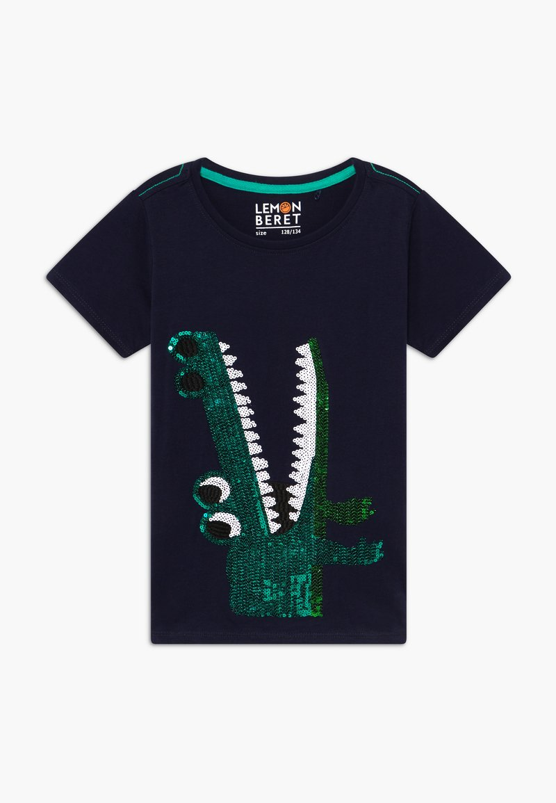 Lemon Beret - SMALL BOYS - Print T-shirt - navy blazer