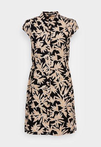 Shirt dress - black/beige