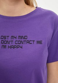 DeFacto - Print T-shirt - purple - 4
