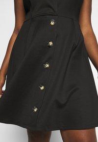 Simply Be - WRAP PINAFORE DRESS - Žerzejové šaty - black - 5