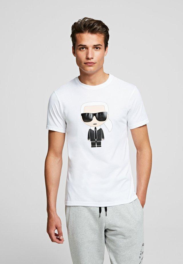 KARL IKONIK - Camiseta estampada - white