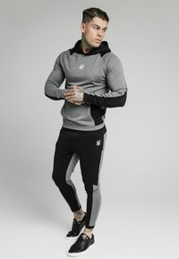 SIKSILK - ENDURANCE OVERHEAD HOODIE - Maglietta a manica lunga - grey/black - 4