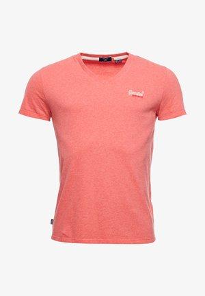 Basic T-shirt - coral marl