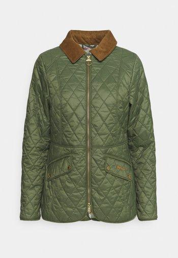 HAYDOCK QUILT - Light jacket - bayleaf/pink olive tartan
