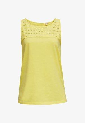 EYELET - Top - bright yellow