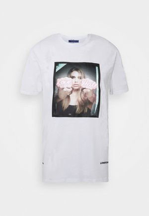 LOVE HATE TEE - T-shirt imprimé - white