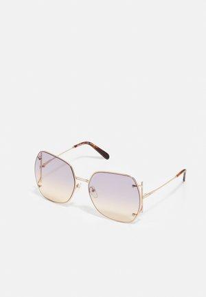 Sunglasses - rose gold-coloured/violet rose