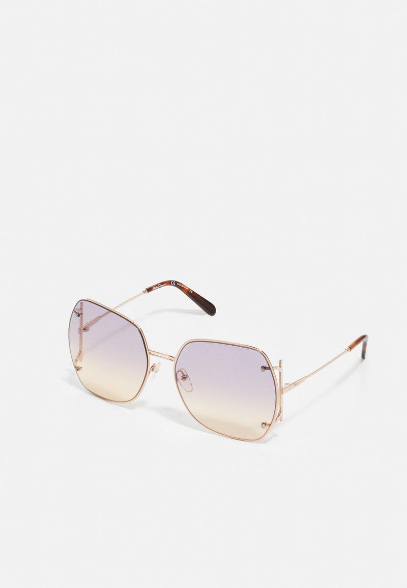 Salvatore Ferragamo - Sluneční brýle - rose gold-coloured/violet rose