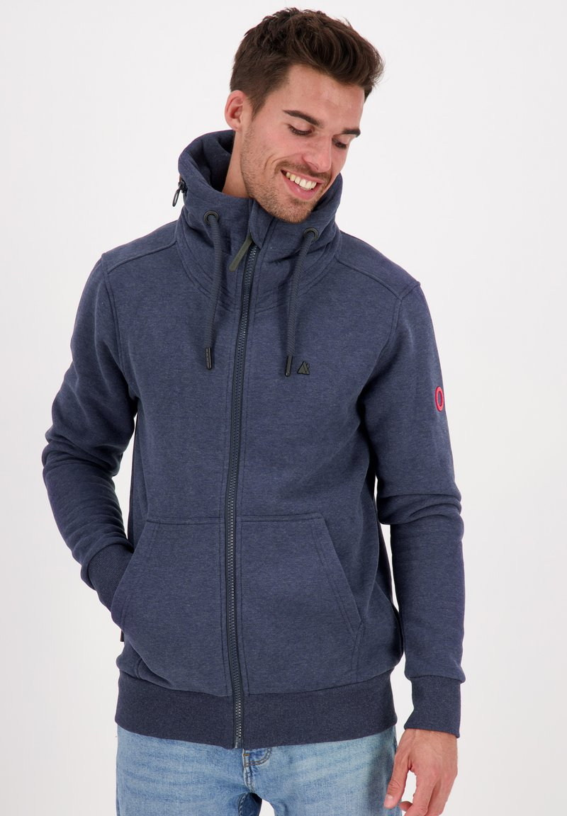 alife & kickin - ELIASAK A - Zip-up hoodie - marine