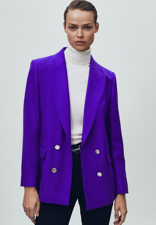 MIT DEKORATIVEN - Blazer - dark purple