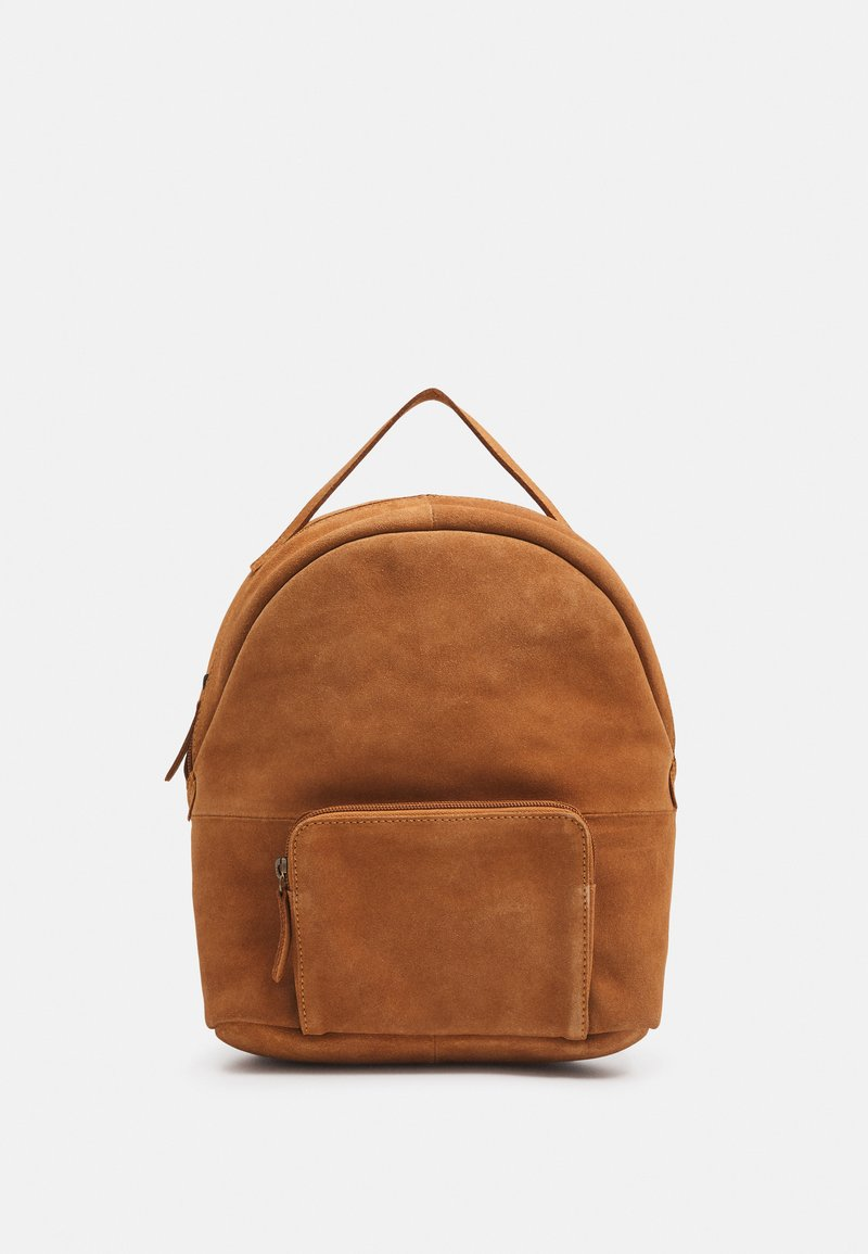 Even&Odd - LEATHER - Rucksack - cognac