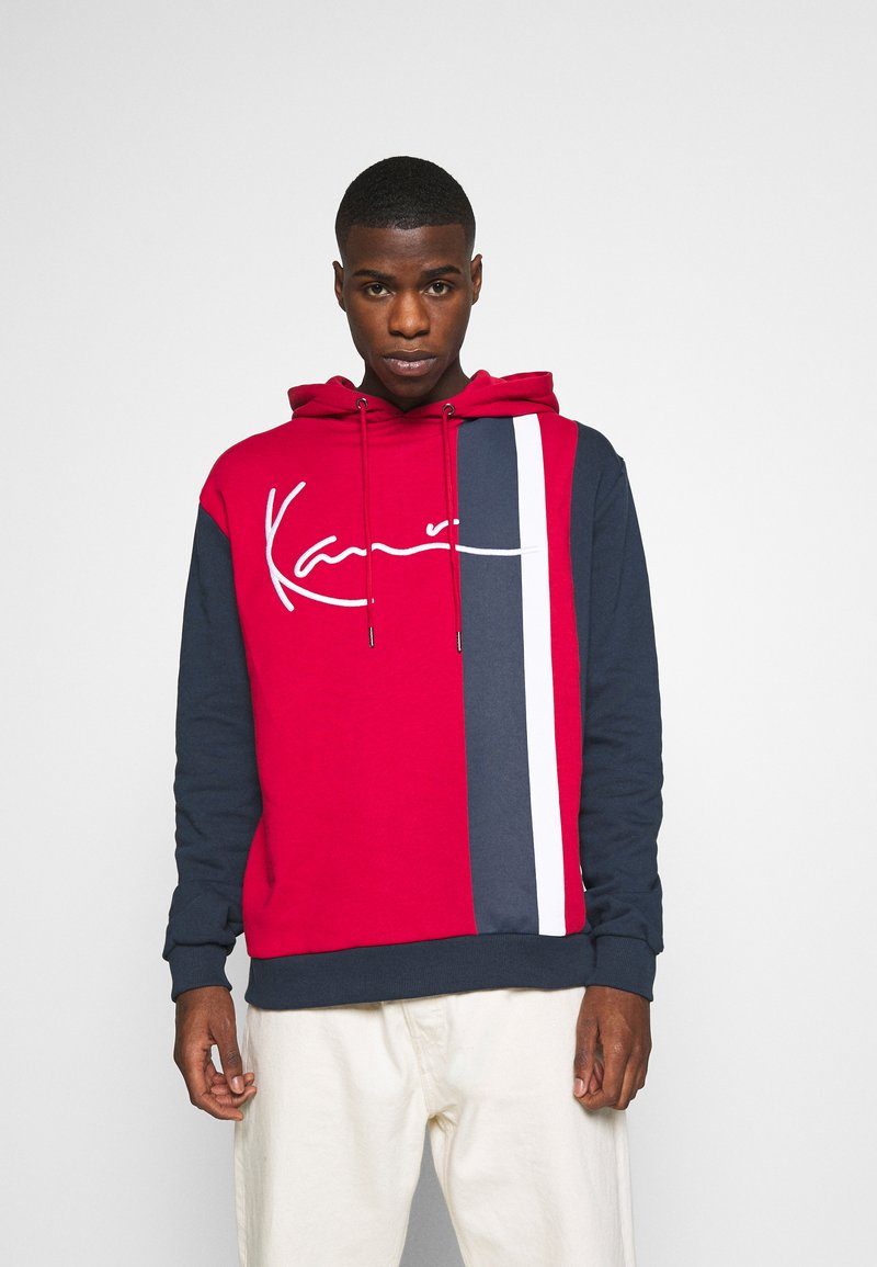Karl Kani - SIGNATURE BLOCK HOODIE - Hoodie - dark red