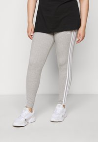 adidas Originals - STRIPES TIGHT - Leggings - Trousers - grey/white - 4