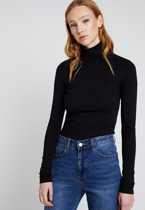 CHIE TURTLENECK - T-shirt à manches longues - black