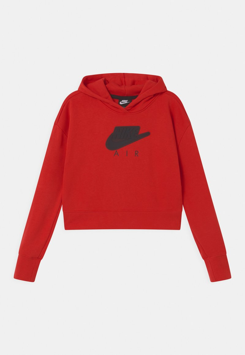 Nike Sportswear - AIR CROP HOODIE  - Sweat à capuche - university red/black