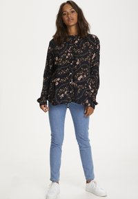 Kaffe - KAJUSTINA PPP - Bluser - black - brown flower print - 1