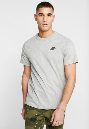 CLUB TEE - T-shirt basic - dark grey heather/black