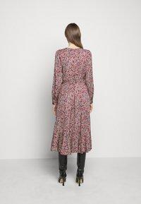 MICHAEL Michael Kors - TIERED WRAP DRESS - Day dress - dark ruby - 2