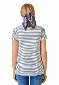 Vertbaudet - Print T-shirt - weiß blau - 2