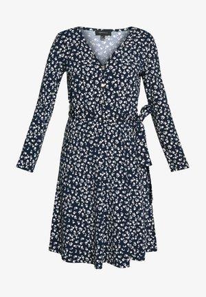 PRINTED DRESS WITH BELT - Vestito di maglina - multicoloured