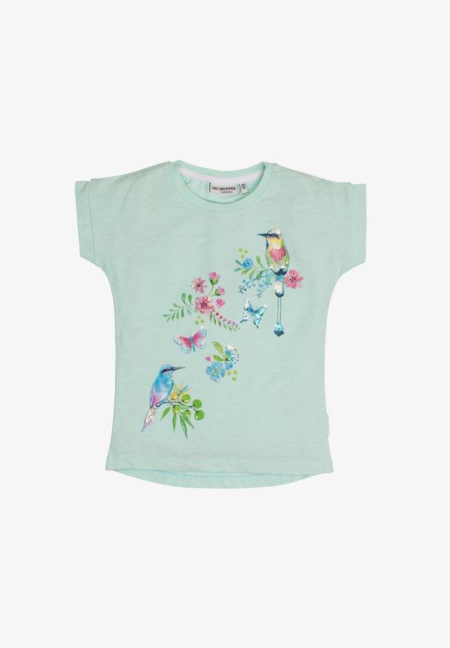 Print T-shirt - pastell green