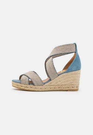LAURA - Sandály na platformě - blau