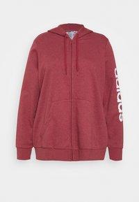 adidas Performance - Zip-up hoodie - legred/white - 0
