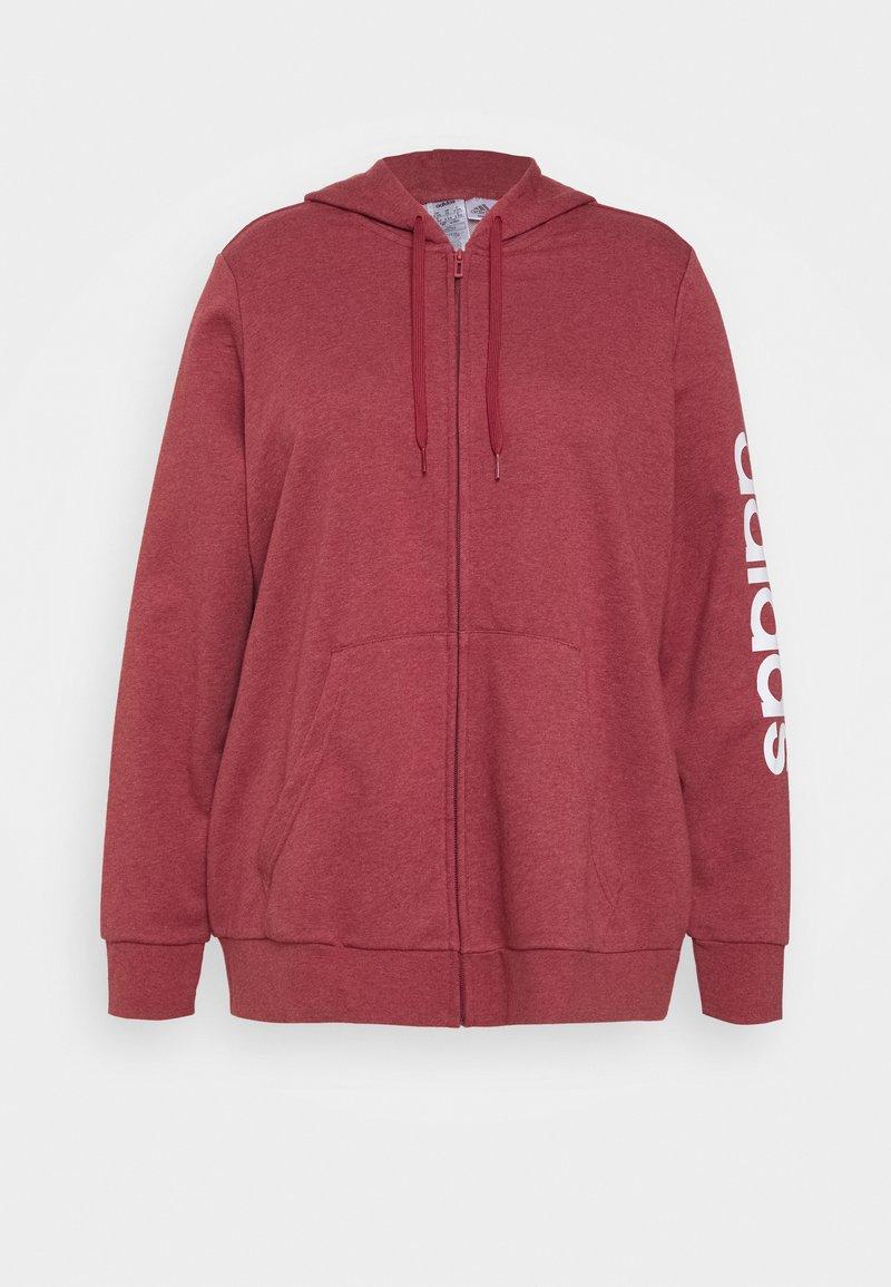 adidas Performance - Zip-up hoodie - legred/white