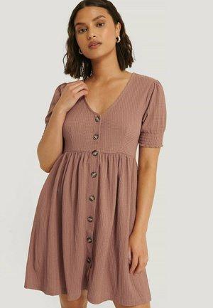 Jersey dress - dusty dark pink