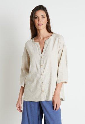 LAUREN - Button-down blouse - linen melange